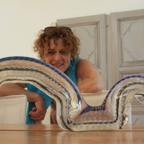 Chantal Royant, Glass sculpture artist, Dinard