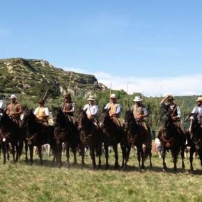Transhumance: bivouac a Istres, Cavaliers Butteri de Maremme