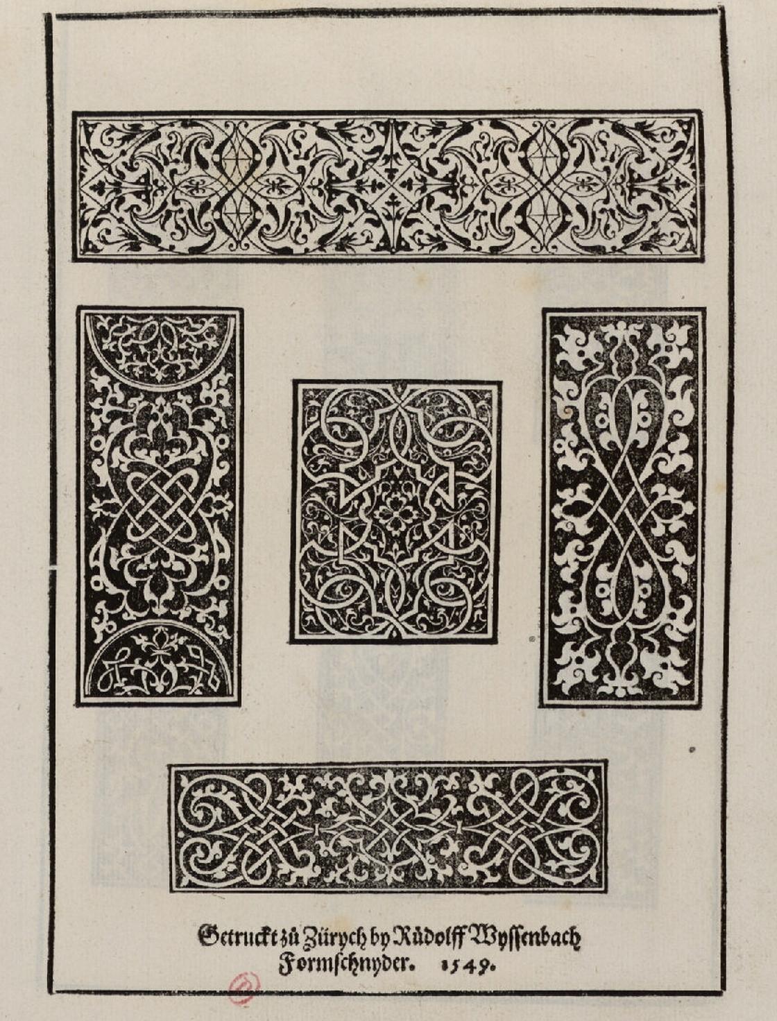 Peter Flötner, Mauresques et damasquinures, Zürich, 1549, bibliothèque de l'INHA