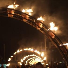Flammes et flots sur le vieux port