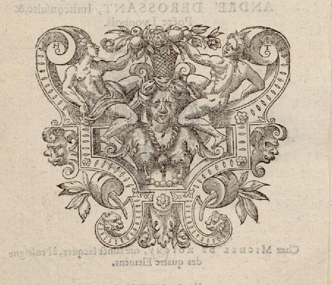 Grotesque,Blaise de Vigenere. livrets de fetes, XVIe siecle, INHA