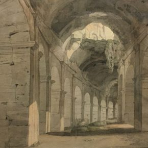 Francis Towne's watercolour of Rome @ British museum