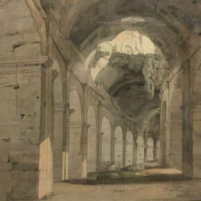Francis Towne's watercolour of Rome @ British museum