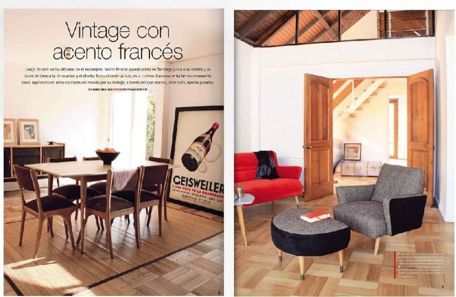 Mas Deco n 361, March 2010: Renovation of a 60's house in Santiago, furnishings by Mei Line