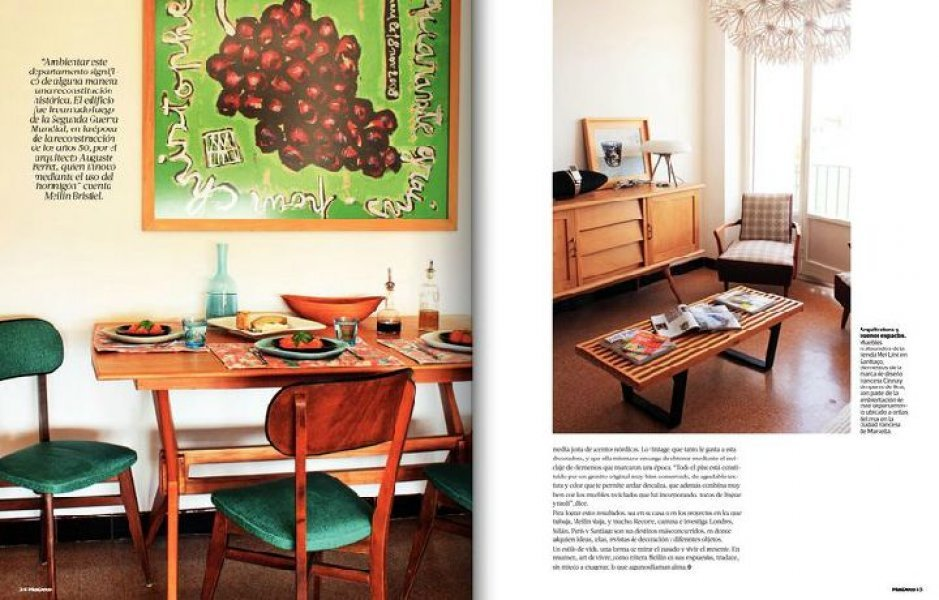 Mas deco n434, September 2011, Decoration of a flat in Marseille, furnishings by Mei Line